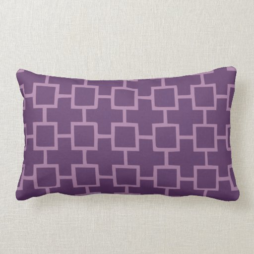 Modelo geométrico púrpura cojines