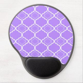 Modelo geométrico púrpura de Quatrefoil de la Alfombrillas De Raton Con Gel