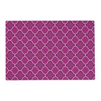 Modelo geométrico púrpura de Quatrefoil Tapete Individual