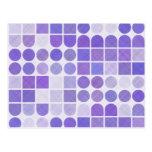 Modelo geométrico púrpura retro postal
