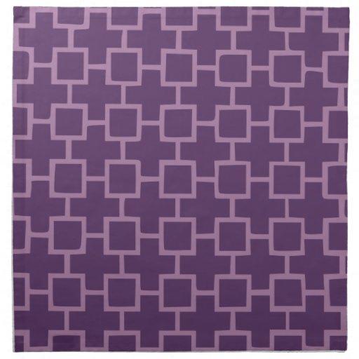 Modelo geométrico púrpura servilleta