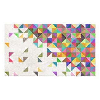 Modelo geométrico retro colorido impresionante plantillas de tarjeta de negocio