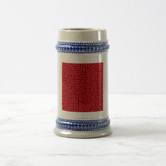 Modelo geométrico rojo tazas de café