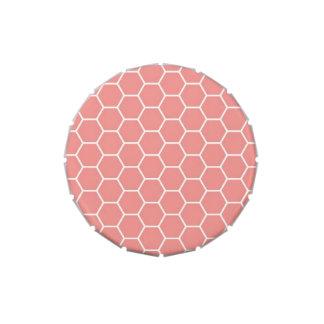 Modelo geométrico rosado de moda del hexágono del jarrones de dulces