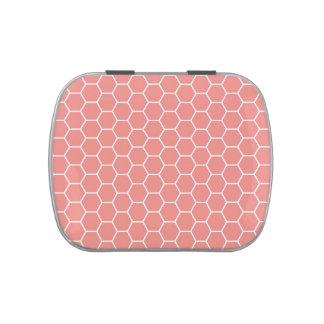 Modelo geométrico rosado de moda del hexágono del latas de dulces