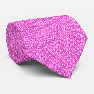 Modelo geométrico rosado del rosa de la hoja de corbatas personalizadas