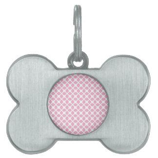 Modelo geométrico rosado femenino Pt1 Placas Mascota