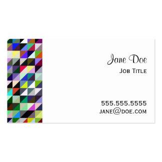 Modelo geométrico - triángulos multicolores tarjetas de visita