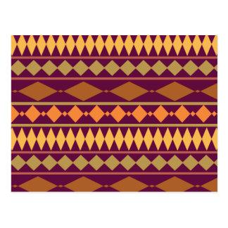 Modelo geométrico tribal del moho magenta postales