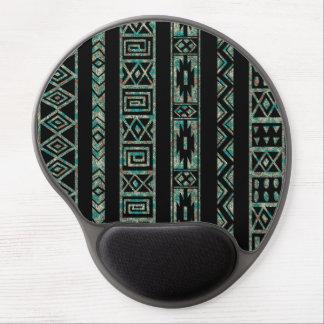 Modelo geométrico tribal negro y colorido 2 alfombrilla gel