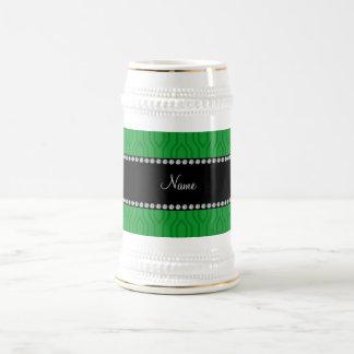 Modelo geométrico verde conocido personalizado de tazas