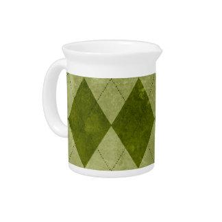 Modelo geométrico verde cubierto de musgo clásico  jarras