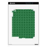 Modelo geométrico verde pinta 8 del trébol iPad 2 calcomanía