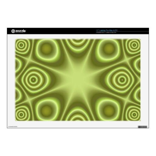 Modelo geométrico verde portátil calcomanía