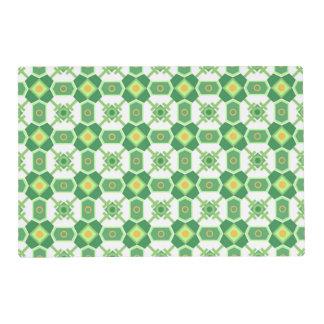 Modelo geométrico verde tapete individual