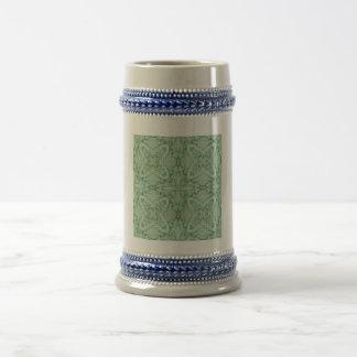 Modelo geométrico verde taza de café