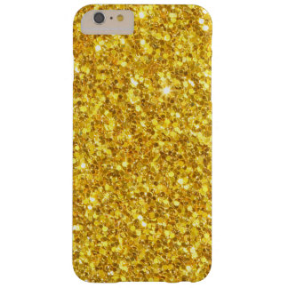 Modelo Glistering del oro Funda De iPhone 6 Plus Barely There