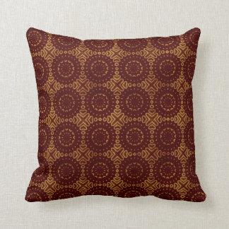 Modelo glorioso del rojo y del oro almohadas