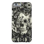Modelo gótico del cráneo del cordón del Victorian Funda De iPhone 6 Barely There