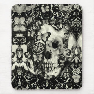 Modelo gótico del cráneo del cordón del Victorian Alfombrillas De Raton