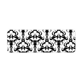Modelo gótico del damasco del estilo etiquetas de remite