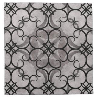 Modelo gótico del victorian magnífico gris y negro servilleta