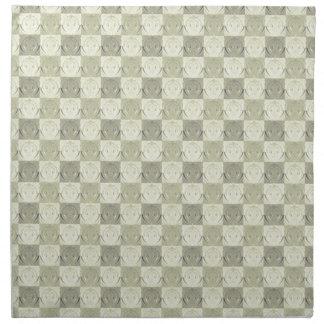 Modelo grabado en relieve beige gris del vintage servilletas de papel