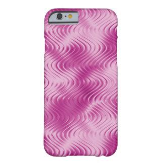 Modelo grabado en relieve ondulado rosado de la funda de iPhone 6 barely there