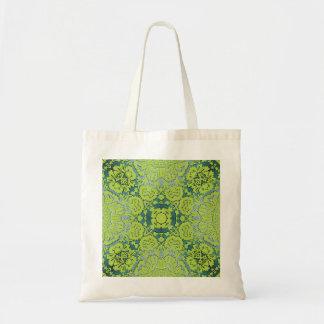 Modelo grabado en relieve verde del damasco bolsas