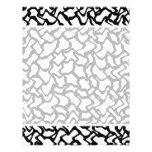 Modelo gráfico abstracto blanco y negro. tarjeta publicitaria