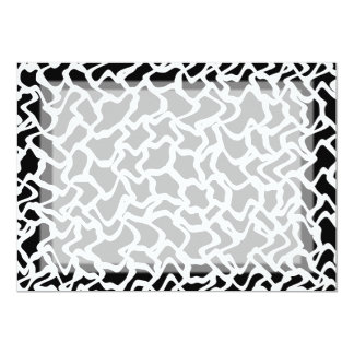 Modelo gráfico abstracto blanco y negro. invitación 12,7 x 17,8 cm