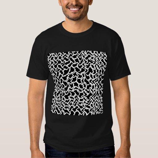Modelo gráfico abstracto blanco y negro. playeras