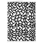 Modelo gráfico abstracto blanco y negro. tarjeta pequeña
