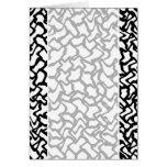 Modelo gráfico abstracto blanco y negro. tarjeton