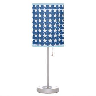 modelo gráfico del cielo de las estrellas azules lámpara de escritorio