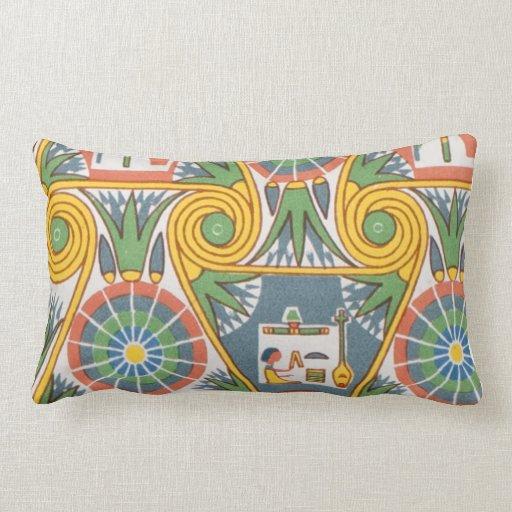Modelo gráfico geométrico egipcio en colores paste almohadas