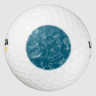 Modelo gráfico náutico del modelo pack de pelotas de golf