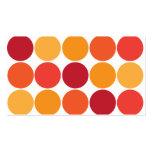 Modelo grande anaranjado rojo intrépido de los cír plantillas de tarjeta de negocio