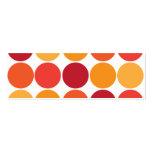 Modelo grande anaranjado rojo intrépido de los cír tarjeta personal
