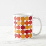 Modelo grande anaranjado rojo intrépido de los cír taza