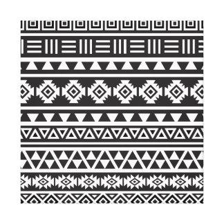 Modelo (grande) azteca del estilo - monocromo impresiones de lienzo
