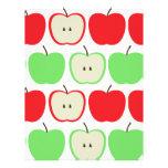 Modelo grande de las manzanas plantilla de membrete