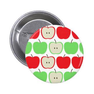 Modelo grande de las manzanas pin redondo de 2 pulgadas