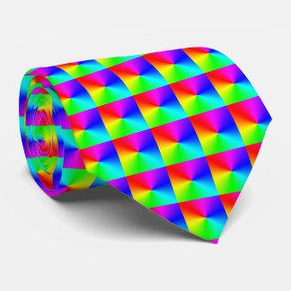 Modelo grande del arco iris corbatas personalizadas