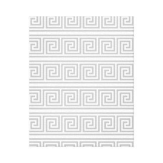 Modelo griego gris y blanco impresión en lona
