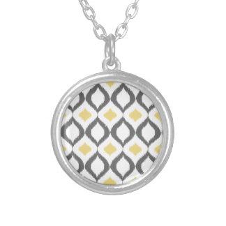 Modelo gris amarillo geométrico retro de Ikat Grimpola Personalizada