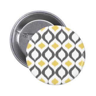 Modelo gris amarillo geométrico retro de Ikat Pins