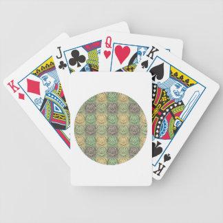 Modelo gris amarillo verde retro del círculo del v barajas de cartas