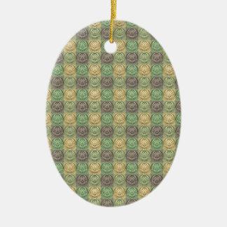 Modelo gris amarillo verde retro del círculo del v ornamento de reyes magos