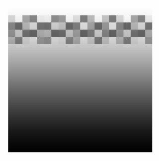 Modelo gris, blanco y negro de los cuadrados fotoescultura vertical